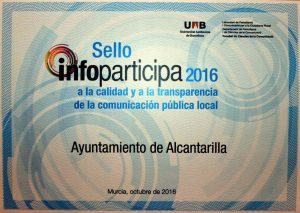 Sello Infoparticipa 2016 Alcantarilla (6) Certificado