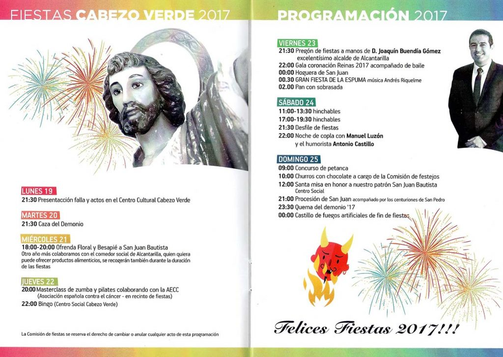 02 Programa Fiestas San Juan - Cabezo Verde - Alcantarilla