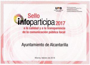 Alcantarilla Sello Infoparticipa 2017