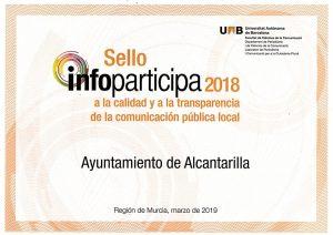Diploma Sello Calidad INFOPARTICIPA 2018